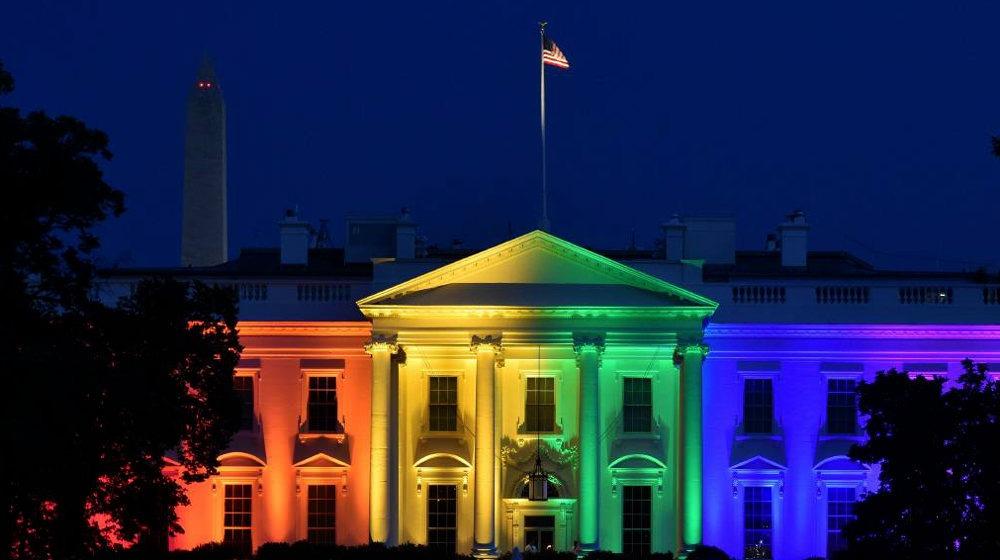 Белый дом гей радуга